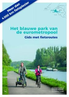 Het blauwe park van de eurometropool Kaart met fietsroutes