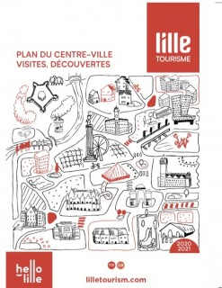 Map Of France Showing Lille.Brochures