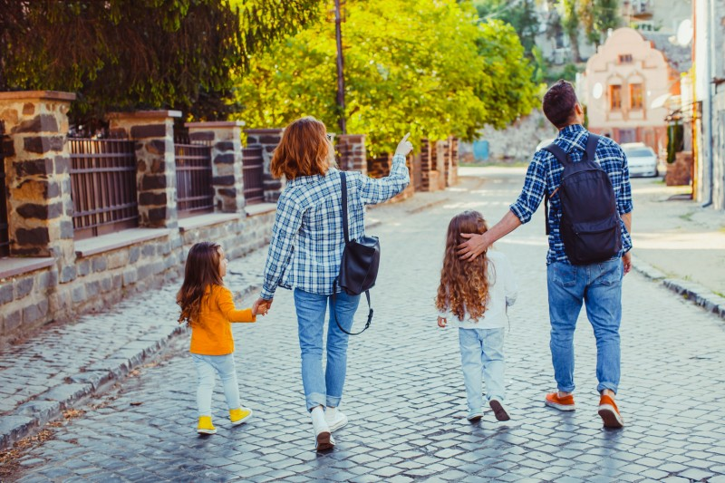 Met familie