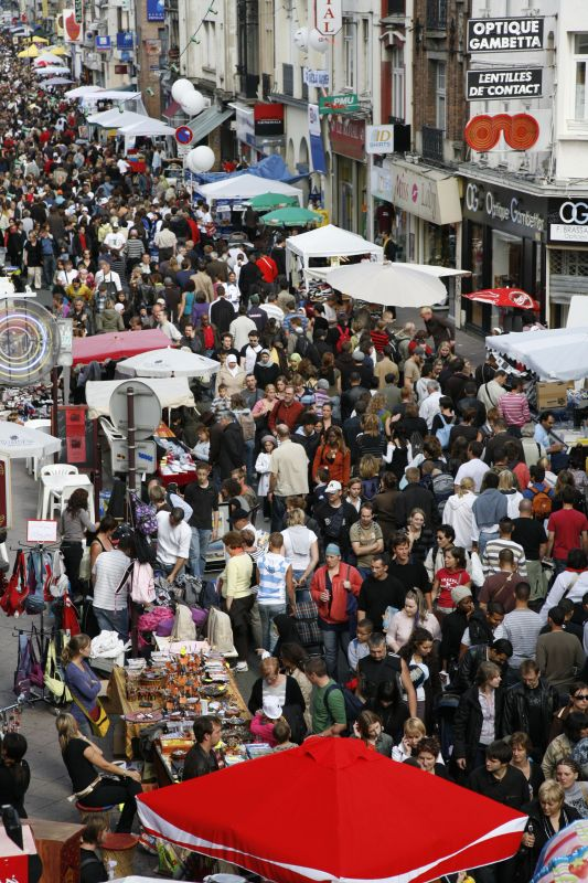Braderie de Lille - flea market - People