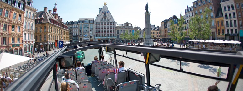 le City Tour sur la Grand'Place de Lille