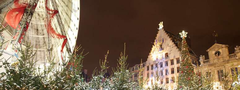 Grand'Roue sur la Grand Place de Lille � Laurent Ghesqui�re