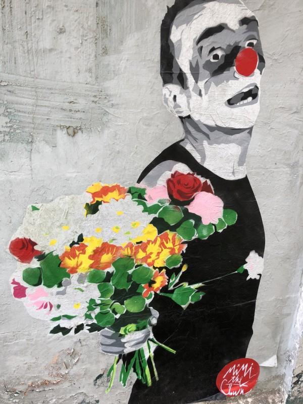 lille, street art, street art lille, mimi the clown