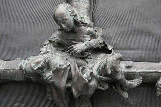 Lille, Cathédrale Lille, Treille, portail Georges Jeanclos