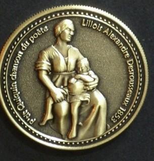 lille, medaille, souvenirs lille, braderie lille, monnaie de paris, etain val des cygnes