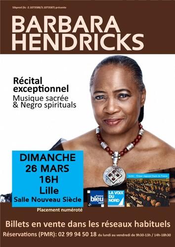 lille, barbara hendricks, hendricks, choeur régional hauts de france, concert lille, musique lille